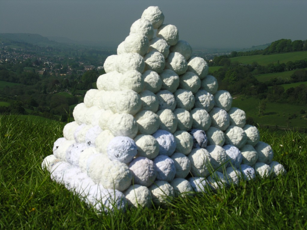 Snowball Gang's First Pyramid: Swift's Hill, Stroud, Glos, UK