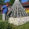 \'Formal Dress\' pyramid sculpture