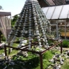 \'Formal Dress\' pyramid sculpture being dismantled